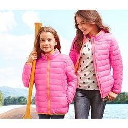 Dziecięca kurtka pikowana, różowa