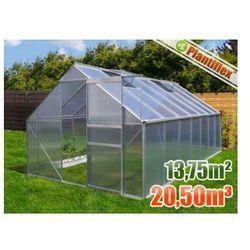Szklarnia ogrodowa 250x550 - 13,75 m kw - szklarnie aluminium + poliwęglan