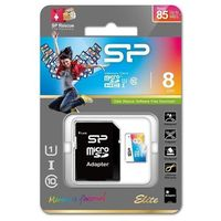 Karta pamięci MicroSDHC Silicon Power Colorful Elite UHS-1 8GB CL10 + adapter