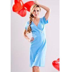 Koszula dla mam karmiących DOBRANOCKA 1055 sky blue
