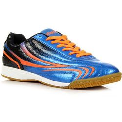ATLETICO niebiesko-czarne buty sportowe młodzieżowe halówki - niebieski / czarny