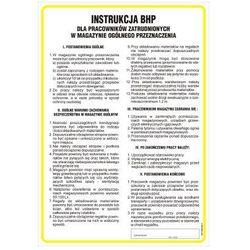 Instrukcja BHP dla pracowników zatrudnionych w magazynie ogólnego przeznaczenia