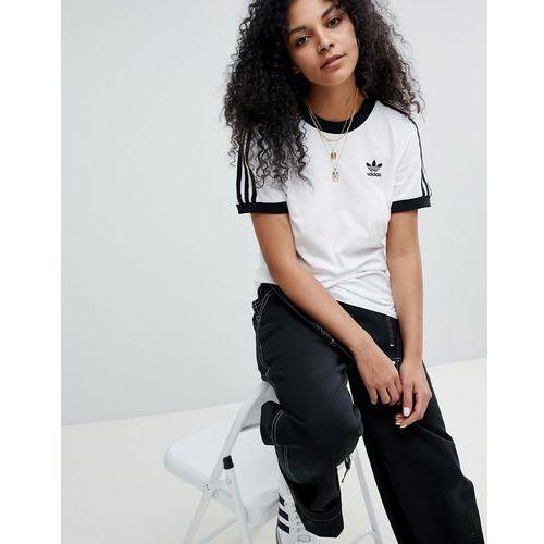 b68137223a7d11 adidas Originals adicolor Three Stripe T-Shirt In White - White ...