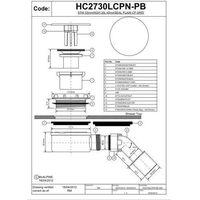 Syfon brodzikowy 90 niski McALPINE HC2730LCPN-PB