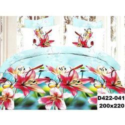 Komplet Pościeli 200x220 Pościel 4cz KWIATY 3D 041 - 041