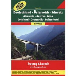 Niemcy Austria Szwajcaria atlas 1:300 000 Freytag & Berndt