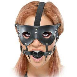 Maska karnawałowa z kneblem, czarny