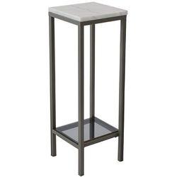 Kare design :: Wysoki stolik / piedestał Ascot marmurowy blat 80 cm