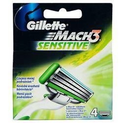 GILLETTE 4szt Mach 3 Sensitive Wkłady do maszynki