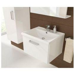 DEFTRANS SLIM Zestaw łazienkowy szafka + umywalka 50, biały połysk