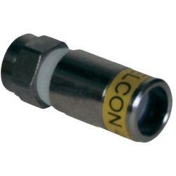 Złącze kompresyjne Cabelcon, średnica kabla 4,9 mm, 3000 Hz, 75 Ohm, 12 szt.