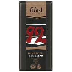 Czekolada gorzka 92% BIO 6x80g- VIVANI