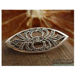 AZTECA - srebrna broszka z kryształem Swarovskiego