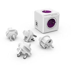 Rozgałęźnik PowerCube ReWirable USB + 4 wtyczki ORNO