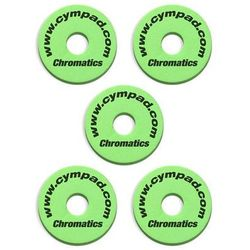 Cympad Chromatic 40/15mm Set Green podkładki do talerzy perkusyjnych (5 szt.), zielone