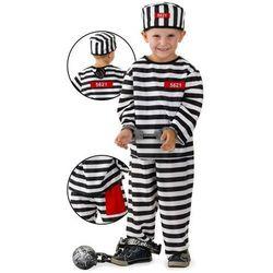 Więzień - przebranie karnawałowe dla chłopca - rozmiar M