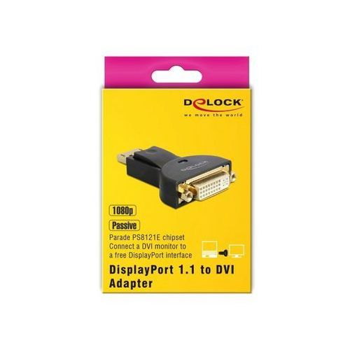 NOWY Adapter Delock DisplayPort 1.1 (m) - DVI (f) 65257