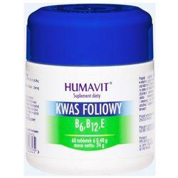 HUMAVIT KWAS FOLIOWY B6, B12, E 60 tabletek