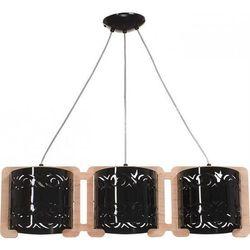 MANILA 3 zwis naturalny/czarny - żyrandol/lampa wisząca