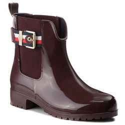 8d38e49163f8a Kalosze TOMMY HILFIGER - Corporate Belt Rain FW0FW03329 Decadent Chocolate  296