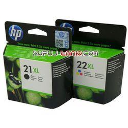 HP 21XL + HP 22XL (oryg.) tusze do HP F4180, HP F2280, HP F2180, HP F2290, HP F380, HP F370, HP F300, HP D1560, HP D1460, HP D1360, HP F2200, HP D2460