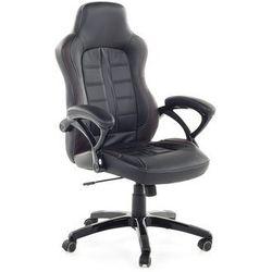 Krzesło biurowe czarno-ciemnobrązowe - obrotowe - dla graczy - PRINCE