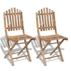 2 składane krzesła bambusowe Zapisz się do naszego Newslettera i odbierz voucher 20 PLN na zakupy w VidaXL!