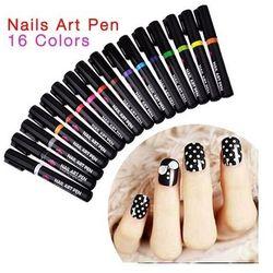 Nail Art Pen Mazak do zdobienia paznokci Nr 16 Jasno Czerwony 7ml - Nr 16 Jasno Czerwony