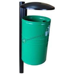 Kosz na śmieci metalowy z daszkiem KZ 1