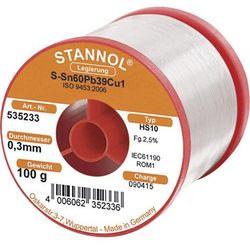 Cyna lutownicza z ołowiem Stannol 535233 Sn60Pb39Cu1 0.3 mm 100 g