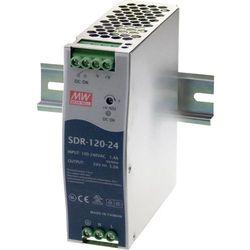 Zasilacz na szynę DIN Mean Well SDR-120-24, 5 A, 120 W, 1 x