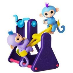 FINGERLINGS Huśtawka + 2 małpki interaktywne Milly i Willy 5+
