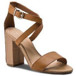 a3a8909066a5d Sandały TOMMY HILFIGER - Feminine Heel Sandal Star Stud FW0FW02235 Summer  Cognac 929
