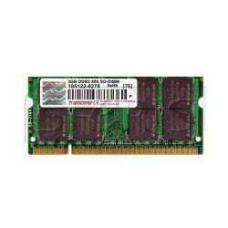 Pamięć RAM Transcend 2GB 800MHz, DDR2, CL6, SODIMM - JM800QSU-2G