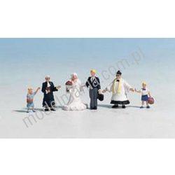 Ślub - zestaw 6 figurek, malowane, w skali H0