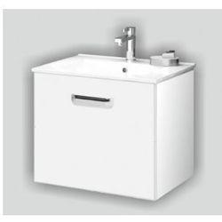 DEFTRANS SLIM Zestaw łazienkowy szafka + umywalka 60, biały połysk 001-D-06005+1732