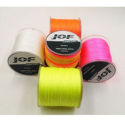 JOF Brand 500M Multifilament PE Braided Fishing Line 4 stands 10LB 20LB 25LB 30LB 40LB 50LB 60LB 100LB new 2015