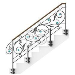 Naklejka Żelazo kute schody balustrada