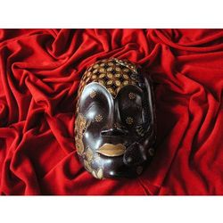 Dekoracyjny Prezent RZEŹBA Egzotyczna Maska PŁODNOŚCI