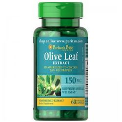 Liść Oliwny Ekstrakt 150 mg / 60 kaps (Puritans)