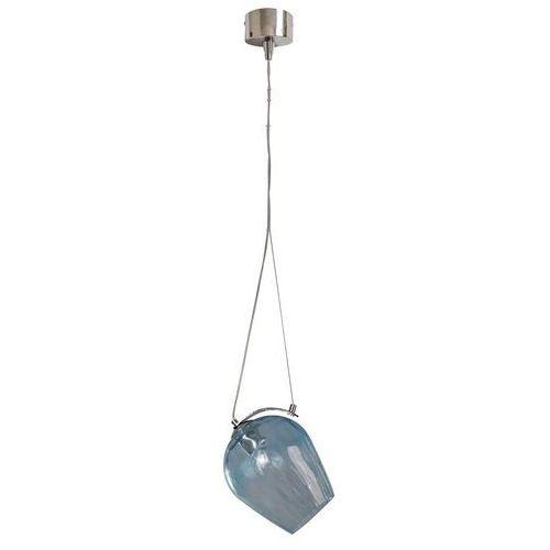 Lampa Wisząca Błękitny Szklany Klosz Na Stalowej Lince Regenbogen Megapolis 606010801