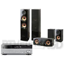 Yamaha RX-V381 (tytanowy), Pure Acoustics NOVA 6 (czarny) - produkt w magazynie - szybka wysyłka!