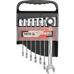 Zestaw kluczy płasko-oczkowych YATO YT-0208 10 - 19 mm z grzechotką (7 elementów)