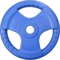 Obciążenie gumowane OLIMPIJSKIE 50mm 20 kg SPORTOP (niebieskie)
