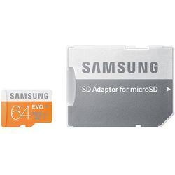 Samsung 64GB microSDXC Evo odczyt 48MB/s + adapter SD