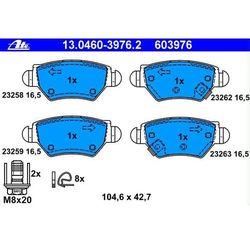 13.0460-3976.2 ATE klocek hamulcowy kpl. T OPEL ASTRA G / Vauxhall Astra MKIV (98-) (23258 17.1)