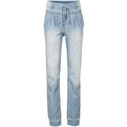 Dżinsy bojówki bonprix niebieski dżins