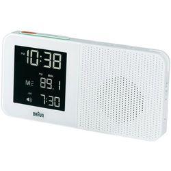 Zegar cyfrowy z radiem -Budzik Sterowany radiowo Braun 66022, Biały (SxWxG) 180 x 90 x 45 mm