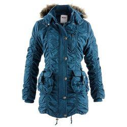 Płaszcz zimowy bonprix niebieskozielony morski