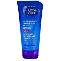 CLEAN & CLEAR Maska żel 2w1 przeciw wągrom do twarzy na trądzik 150ml